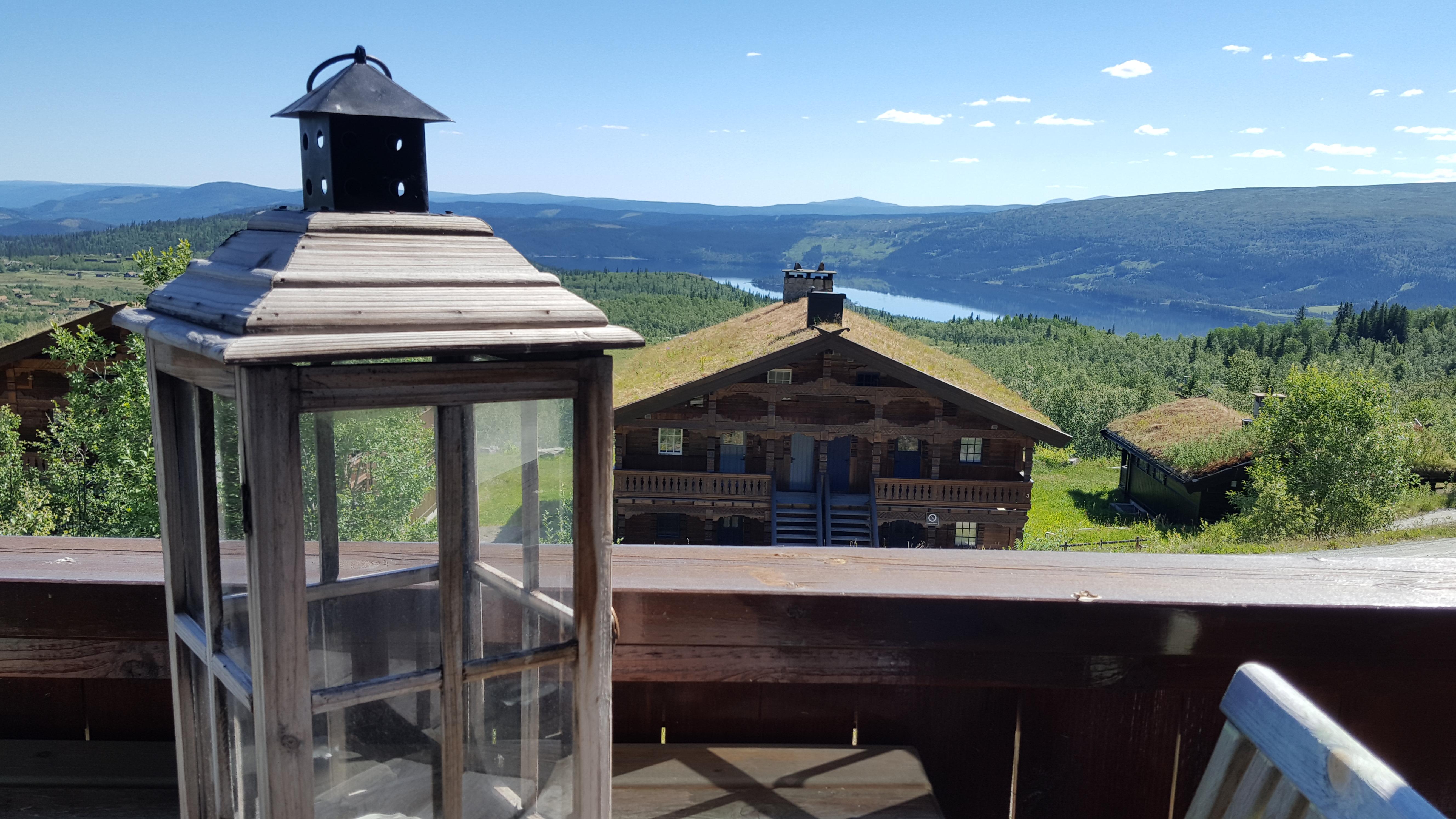Utsikt fra stuen på Beitostølen