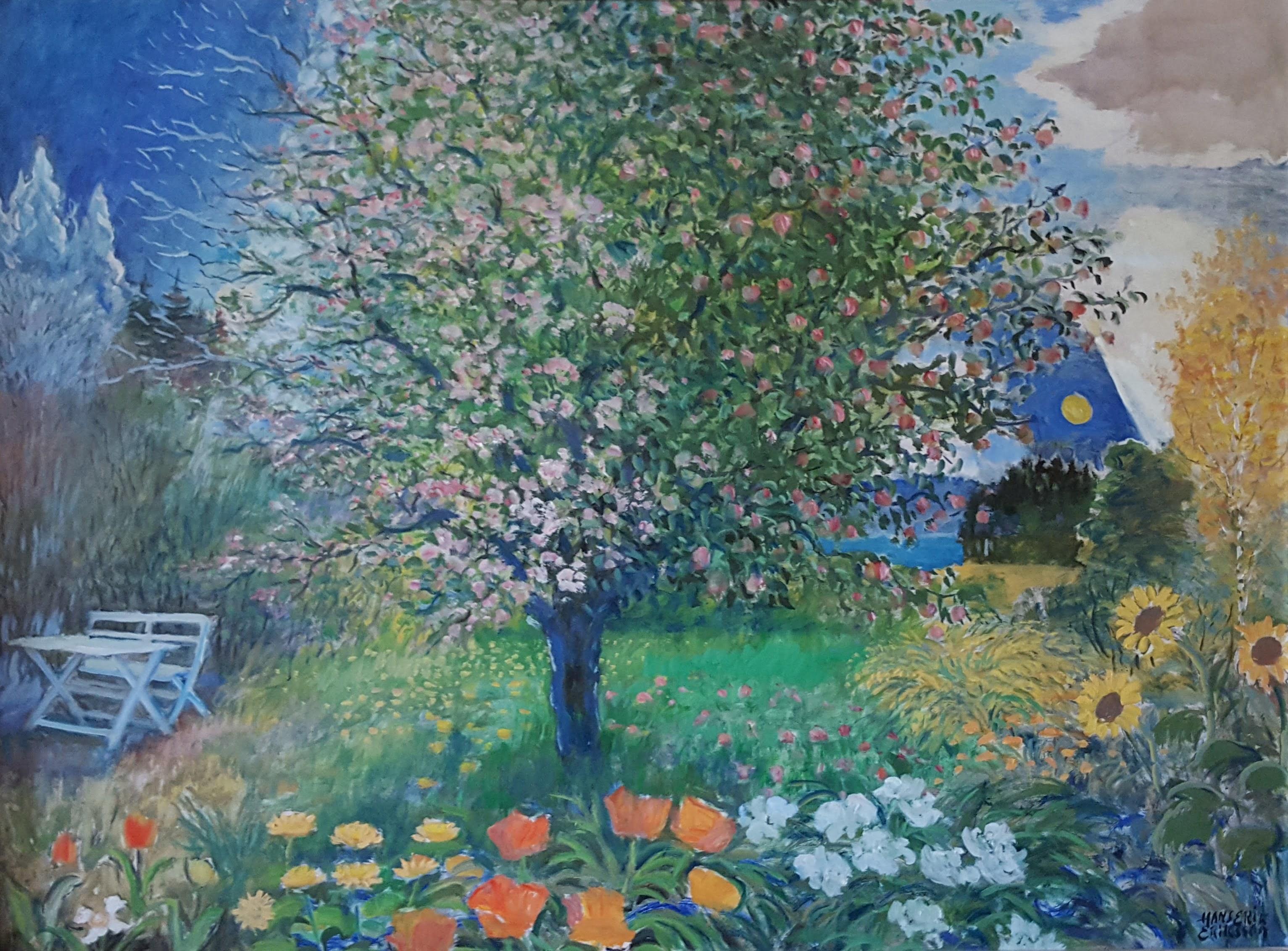 Bildet er malt av den svenske kunstneren Hans Erik Eriksson